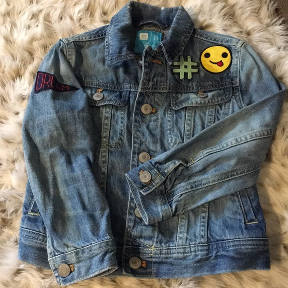 18ff96e579ad GAP Other - Gap Kids emoji blue jean jacket in extra small